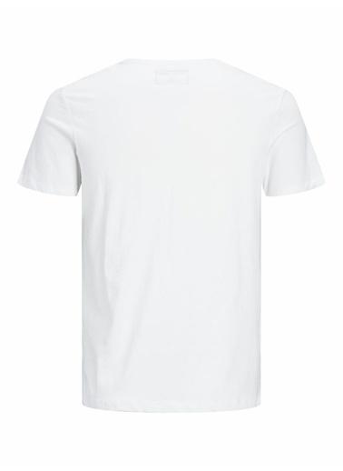 Jack & Jones Jack&Jones Erkek Baskılı T Shirt 12191971 Beyaz